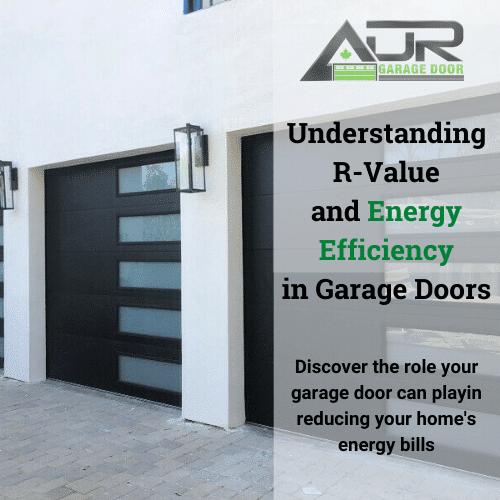 Insulated garage door R value